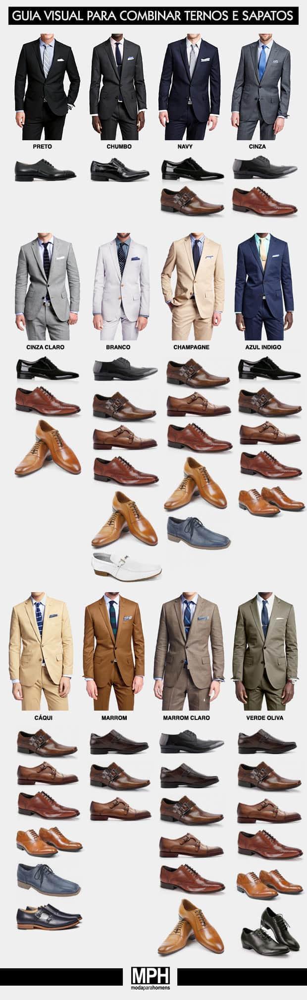 como combinar ternos e sapatos