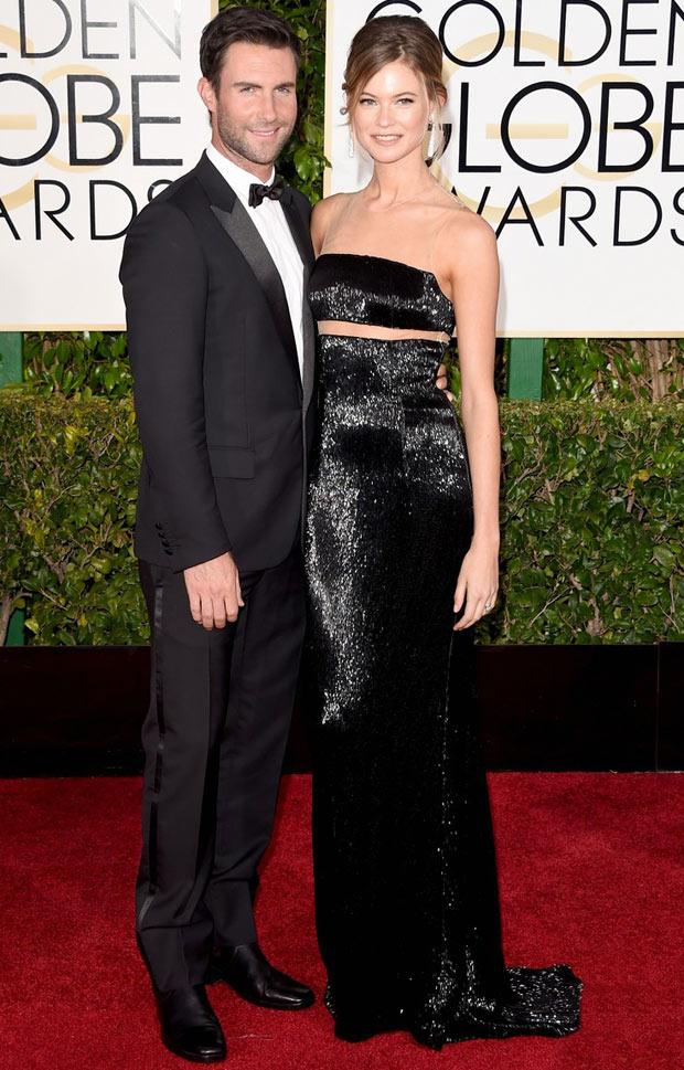 Adam-Levine-Behati-Prinsloo-Golden-Globe-Awards-2015