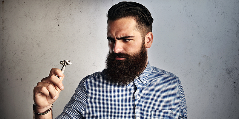 crescimento da barba