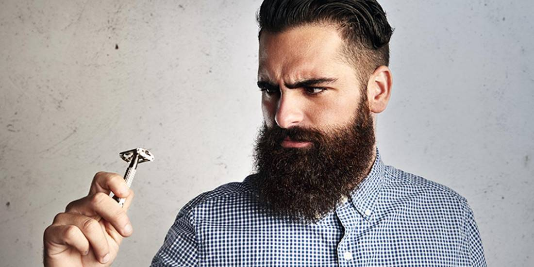 como fazer a barba com lâmina