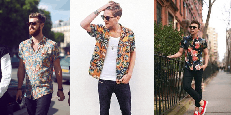 look floral masculino