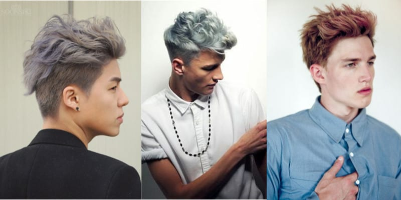 cabelo masculino descolorido