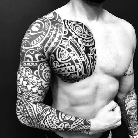 ideia de tatuagem masculina estilosa
