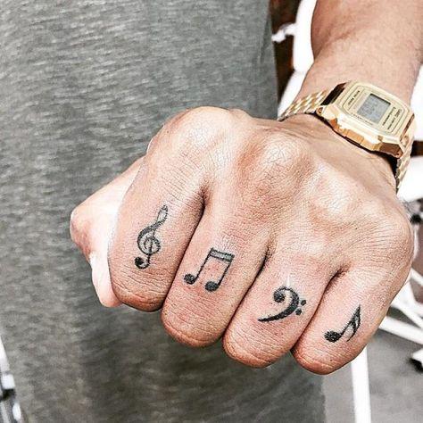 tatuagem música masculina