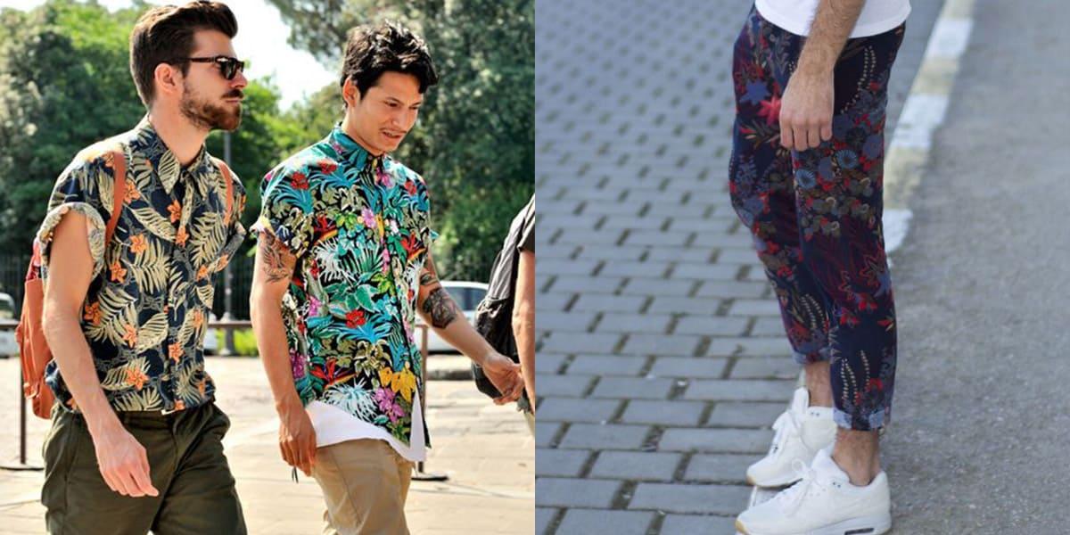 moda masculina floral