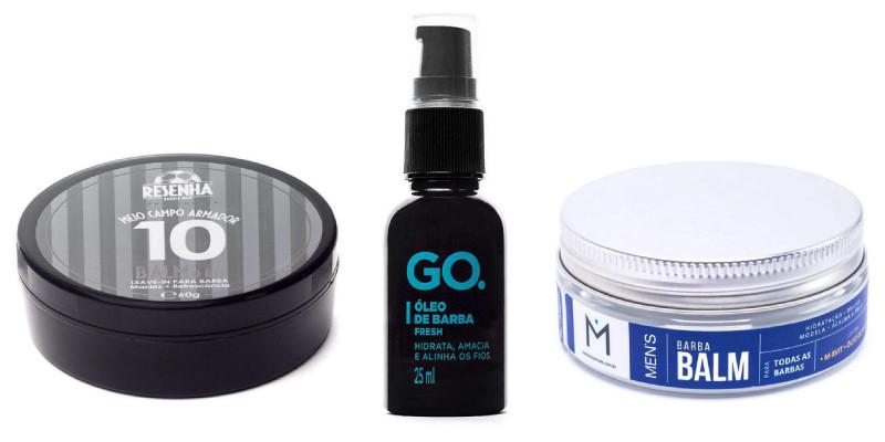 kit para cuidados com a barba