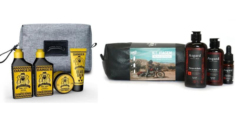 kit para cuidar da barba