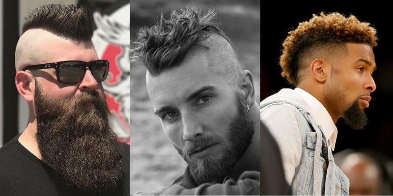 corte de cabelo moicano masculino