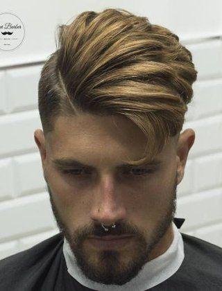 corte de cabelo moicano moderno