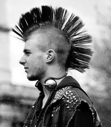 corte de cabelo punk