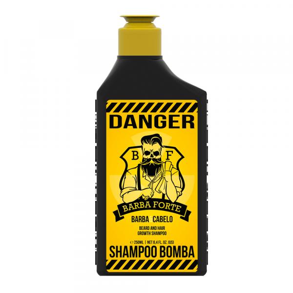 Shampoo Bomba Barba e Cabelo Danger Barba Forte
