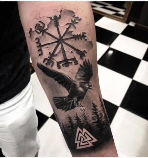 símbolos tatuagens vikings