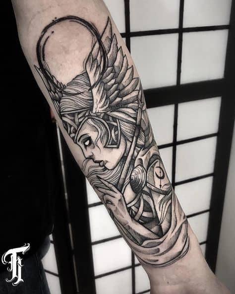 tatuagem valquíria