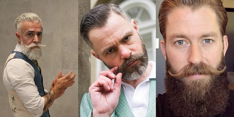 bigode vintage com barba