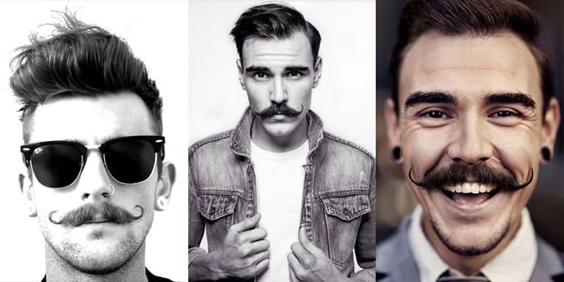 como fazer handlebar moustache