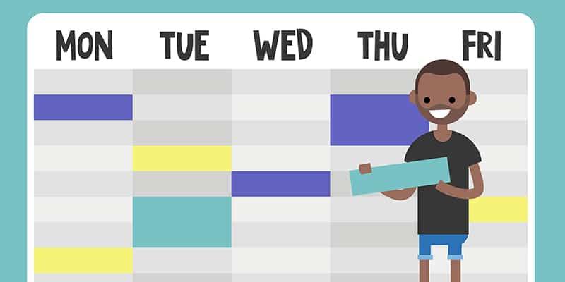 como fazer um cronograma de exercícios físicos